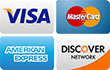 we accept visa mastercard american express discover cards